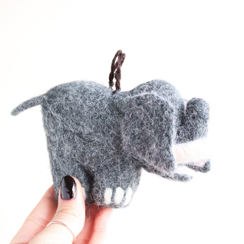 Big Elephant Felt Ornament