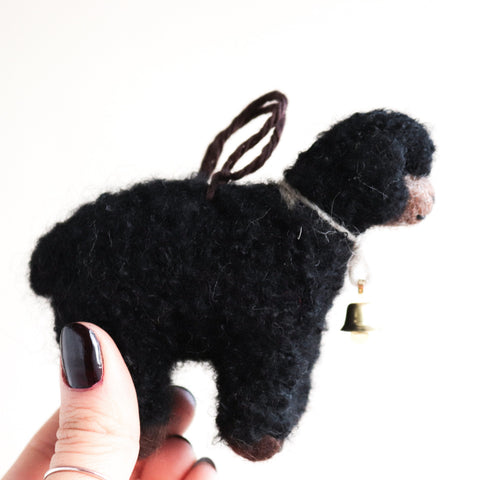 Black Sheep Felt Ornament