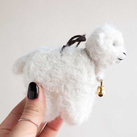 Lamb Felt Ornament