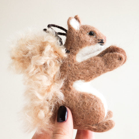 Brown Squirrel Felt Ornament