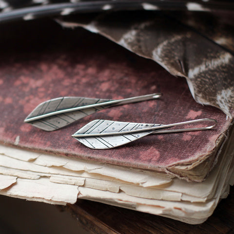 'Ignite the Fire' Feather Earrings