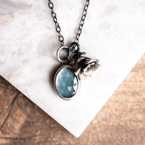 Aquamarine Succulent Necklace