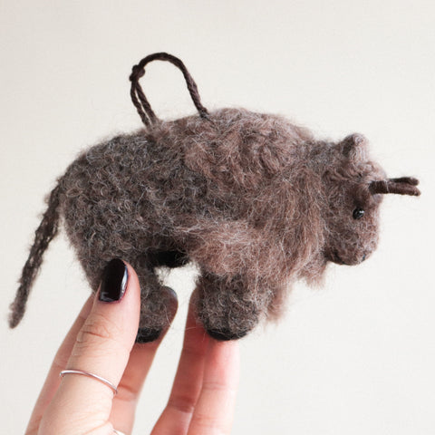 Buffalo Felt Ornament