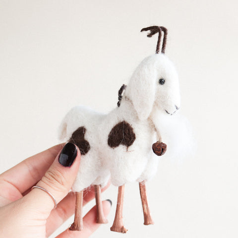 Goat Felt Ornament