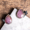 Pink Sapphire Seedhead Post Earrings