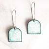 Cathedral Enamel Tab Earrings