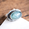 Size 7.25 |  Aquamarine Galaxy Halo Ring