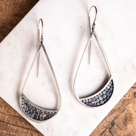 Galaxy Crescent Drop Earrings