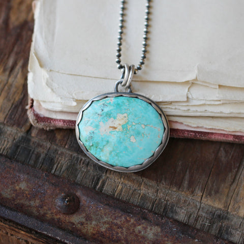 Peace- Royston Turquoise Pendant 18in - Artisan's Bench - 1