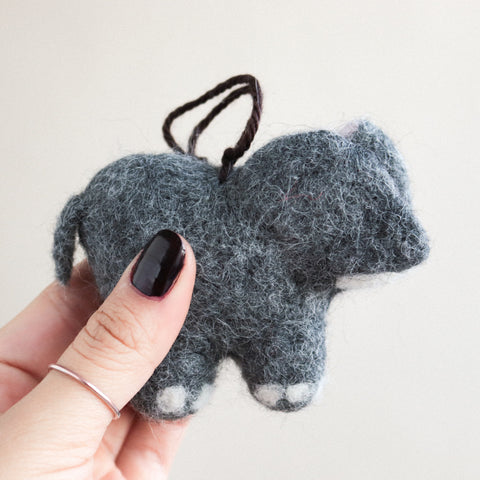 Baby Elephant Felt Ornament