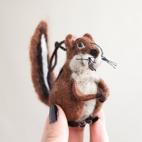 Chipmunk Felt Ornament