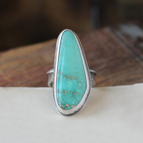 Not broken just bent - Royston Turquoise Ring Size 7 - Artisan's Bench