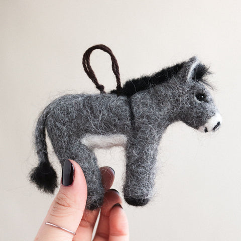 Donkey Felt Ornament
