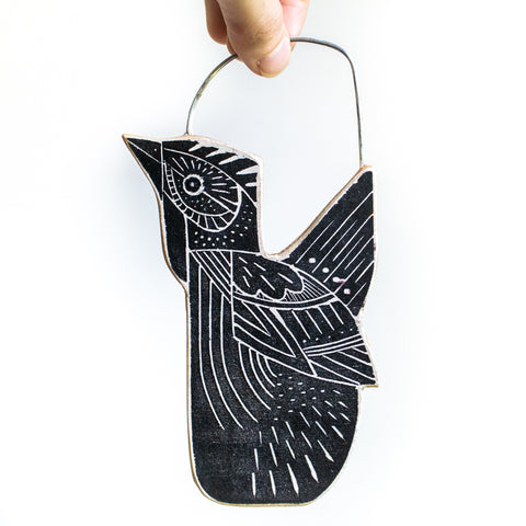 Small Hanging Hen | Black