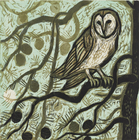 Owl Wax Moon 24 x 24 | Kent Ambler Collection