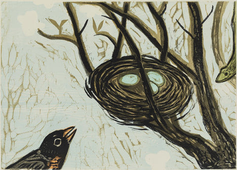 Mindful Robin 20 x 16 | Kent Ambler Collection