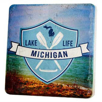 Michigan Lake Life Coaster - Artisan's Bench - 1