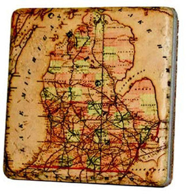 Michigan Map Coaster - Artisan's Bench - 1