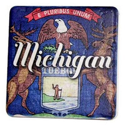 Michigan Seal Coaster - Artisan's Bench - 1