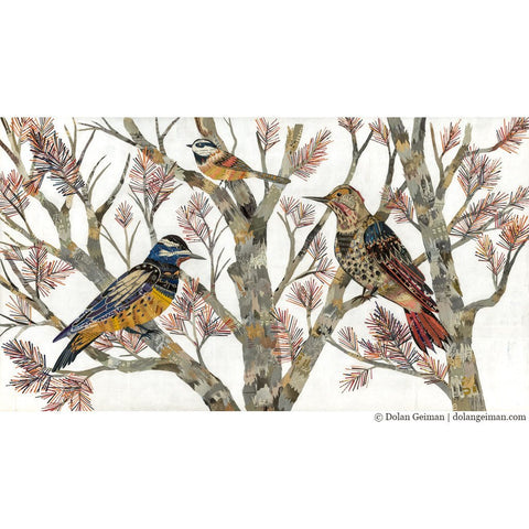 Flicker and Chickadee | Archival Print