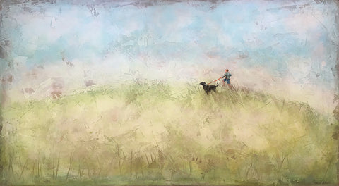 "Out for a Run 52x28"" Painting"