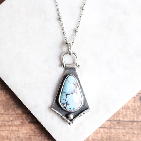 Lavender Hills Turquoise Shield Necklace