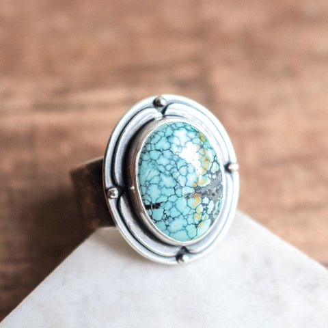 Size 8 | Hubei Turquoise Compass Ring