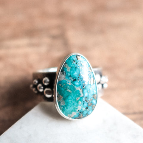 Size 8.75-9 | Whitewater Turquoise Ring