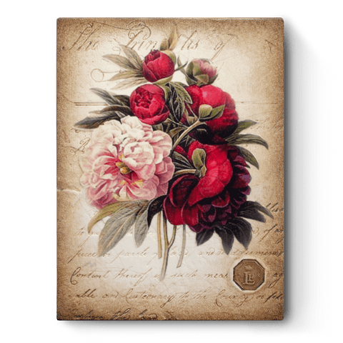 RLE18-03 Peony Bouquet (Retired) | Limited Sid Dickens Memory Block
