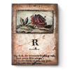 RLE19-02 Old English Rose (Retired) | Limited Sid Dickens Memory Block