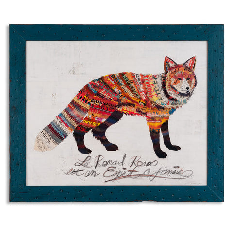 Red Fox With French Writing - Artisan's Bench