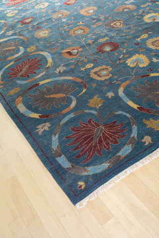 Arts and Crafts Modern Flower Rug 9 X 12 (9230) - Artisan's Bench - 1