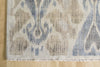 Slate Blue & Brown Ikat 9x12 (8929) - Artisan's Bench