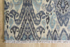Grey & Blue Ikat 9x12 (8935) - Artisan's Bench - 2