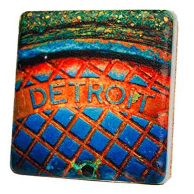 Detroit Man Hole Steam Coaster - Artisan's Bench - 1