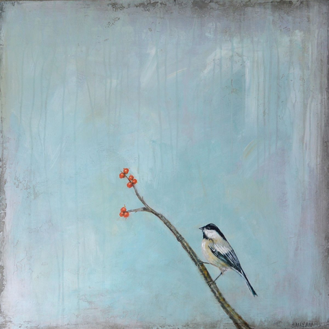 Chickadee Bird Painting - Artisan's Bench - 1