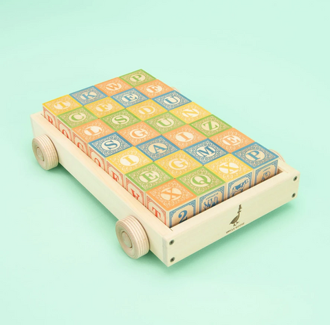 Uncle Goose Classic ABC Blocks w/ Wagon