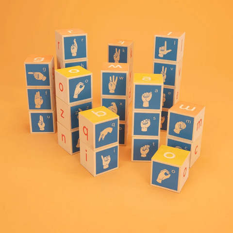 Uncle Goose Sign Language ABC Blocks