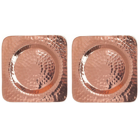 Square Hammered Copper Coaster - Artisan's Bench
