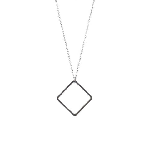 Diamond Silver Necklace