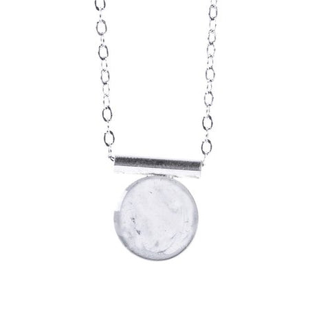 Marble Silver Necklace