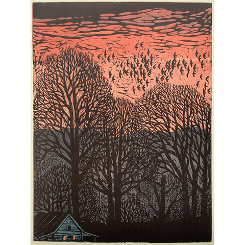 Afterglow 32x40 | Woodblock Print