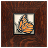 Motawi Butterfly in Tangerine - 4x4 - Artisan's Bench