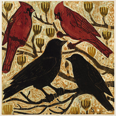 Cardinals and Crows - Artisan's Bench