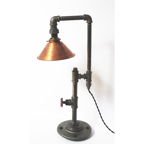 Edison Table Lamp with Copper Shade - Artisan's Bench - 1