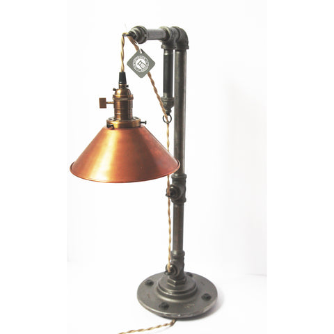 Hanging Edison Table Lamp with Copper Shade - Artisan's Bench - 1