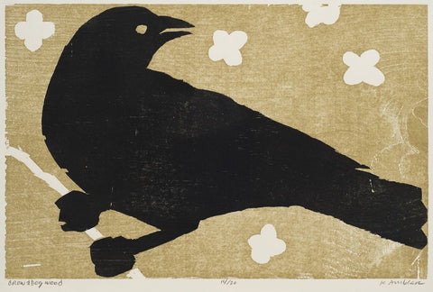 Crow and Dogwood 24x18"