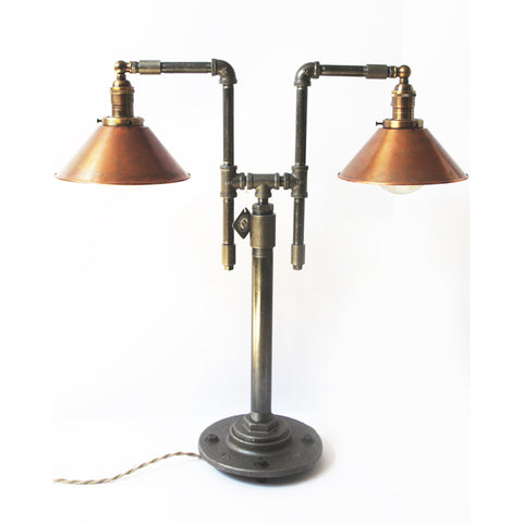Dual Shade Table Lamp with Copper - Artisan's Bench - 1