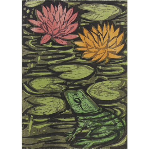Frog Pond 2 16x20 | Woodblock Print
