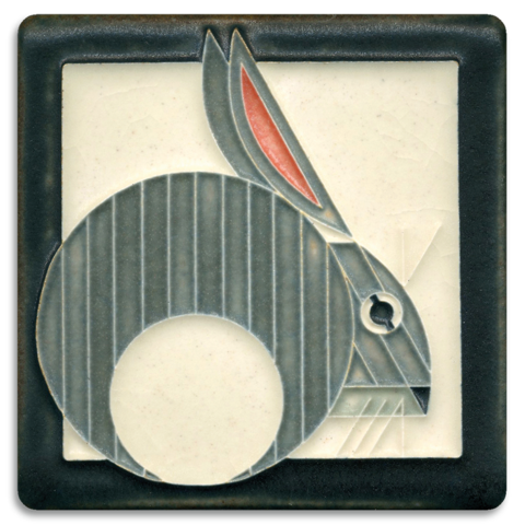 Motawi Hare in grey - 4x4 - Artisan's Bench